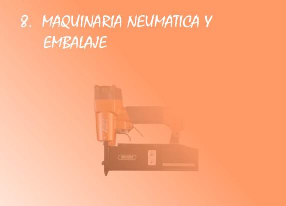 Maquinaria neumática y embalaje